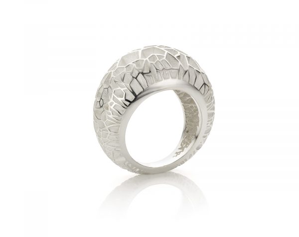 Cober zilveren ring glacier cracks
