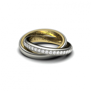 Witgouden ringen gemonteerd om u en uw partners trouwringen gravure behouden cober