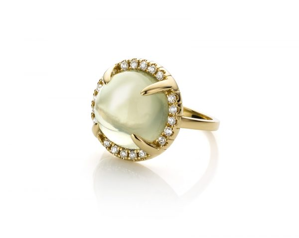 geelgouden ring met maansteen en diamanten mary-ann-moonstone cober