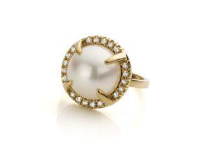 parel ring met tahitiparel in geelgouden ring mary-ann-pearl cober