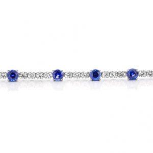 witgouden exclusieve armband met saffieren en diamanten something blue cober