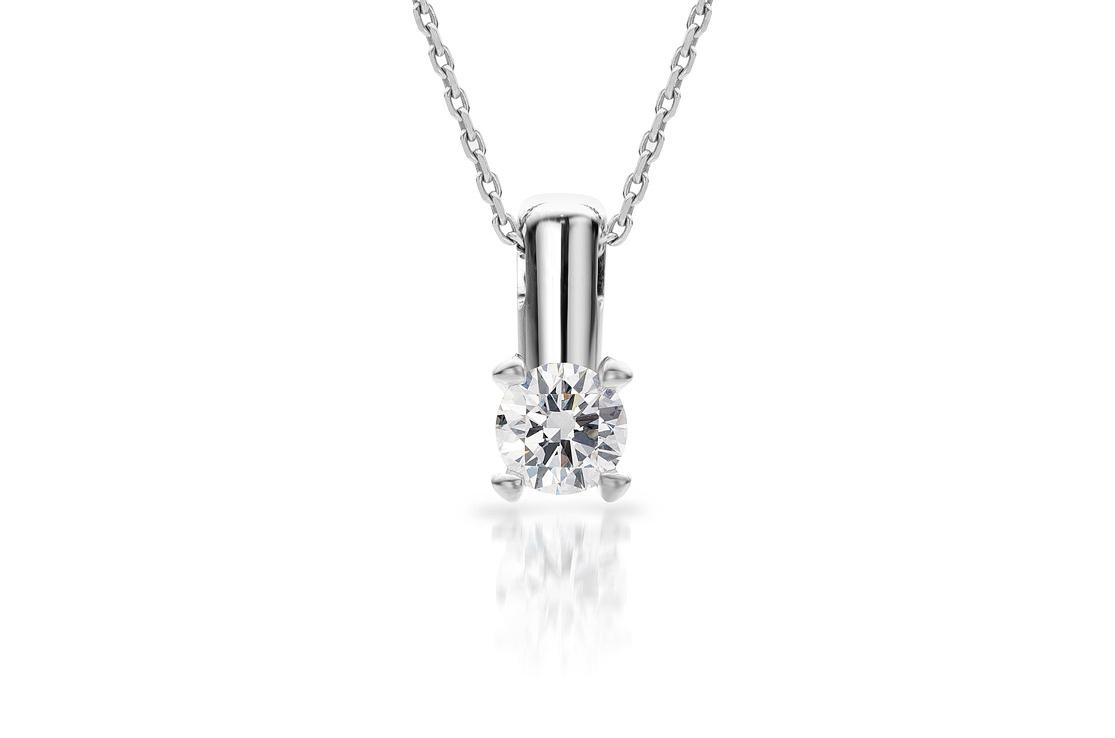 Witgouden hanger met diamanten door Cober