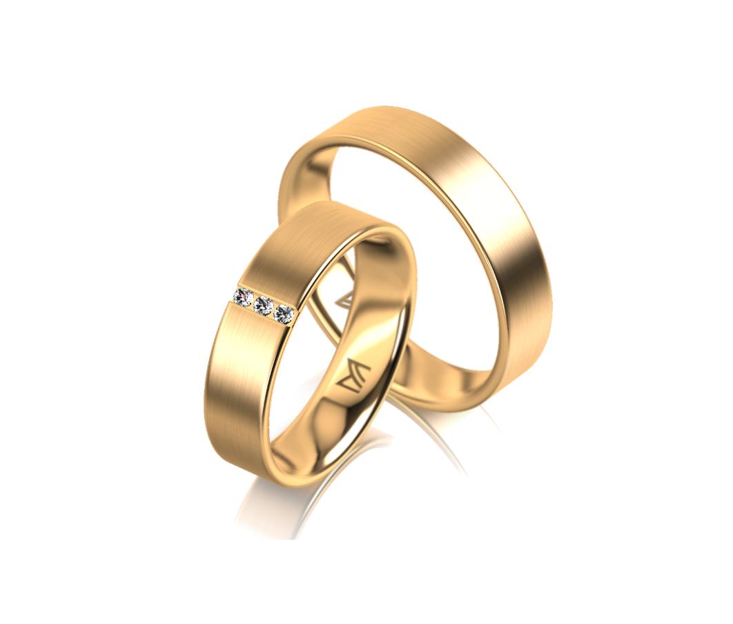 Klassieke geelgouden Meister trouwringen